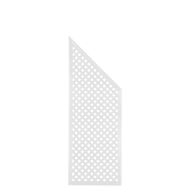 Sichtschutzwand Kunststoff Coventry, Diamant Abschlusselement, weiß