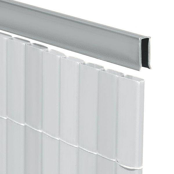 U-Profil für Sichtschutzmatte Rügen, aluminium