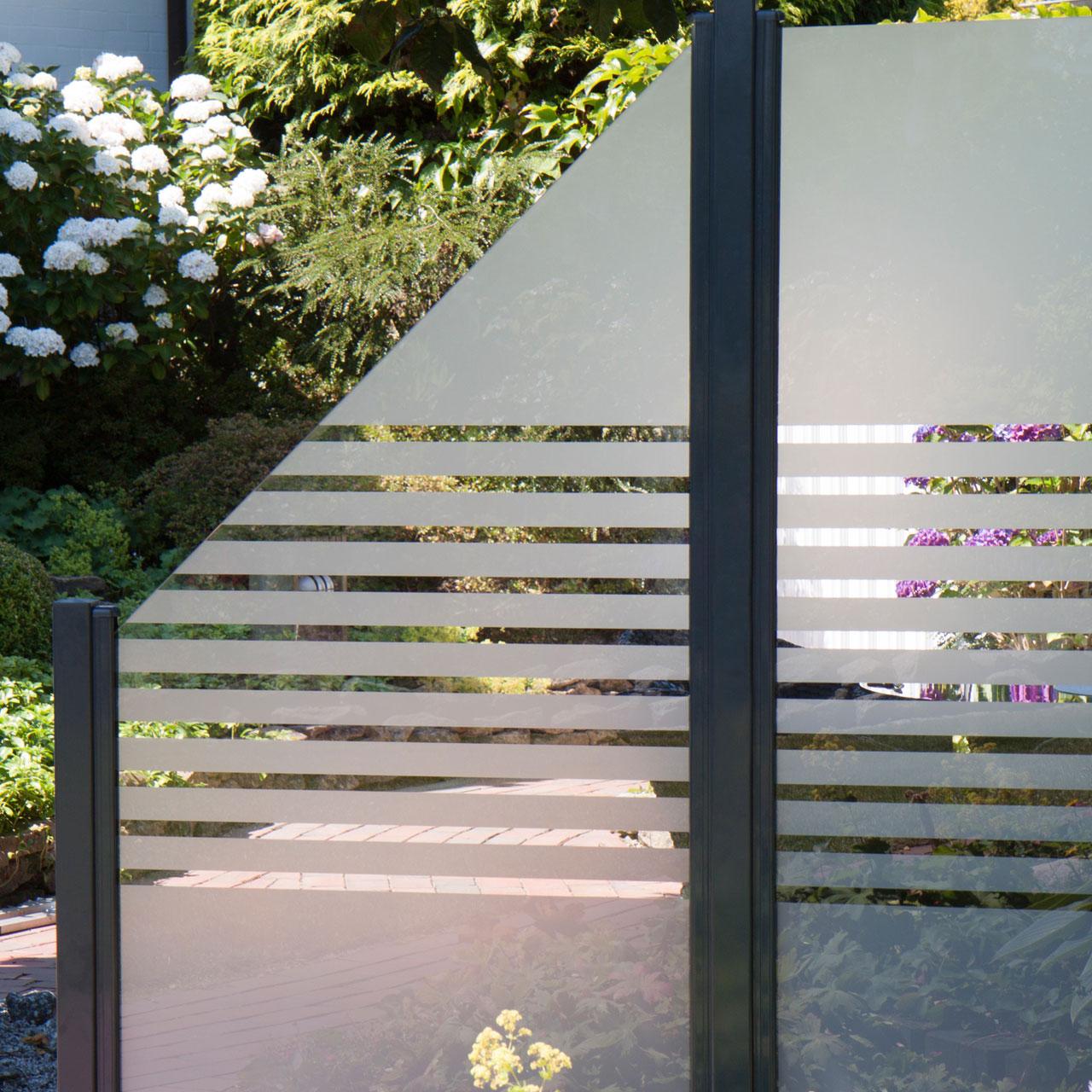 Glas Sichtschutzzaun Streifen
