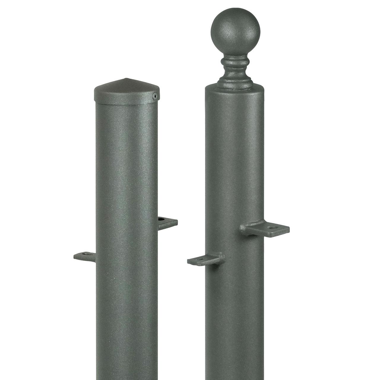 pfostenset toranlage rund h 90cm pfostenset toranlage rund h 90cm parkallee metallzaun. Black Bedroom Furniture Sets. Home Design Ideas