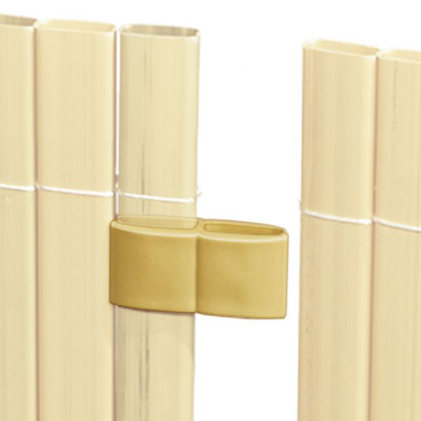 Mattenverbinder für Sichtschutzmatte Rügen, bambus
