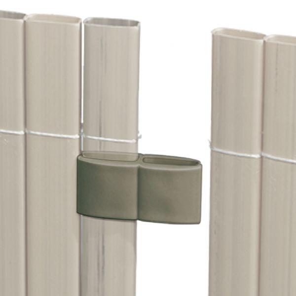 Mattenverbinder für Sichtschutzmatte Rügen, grau