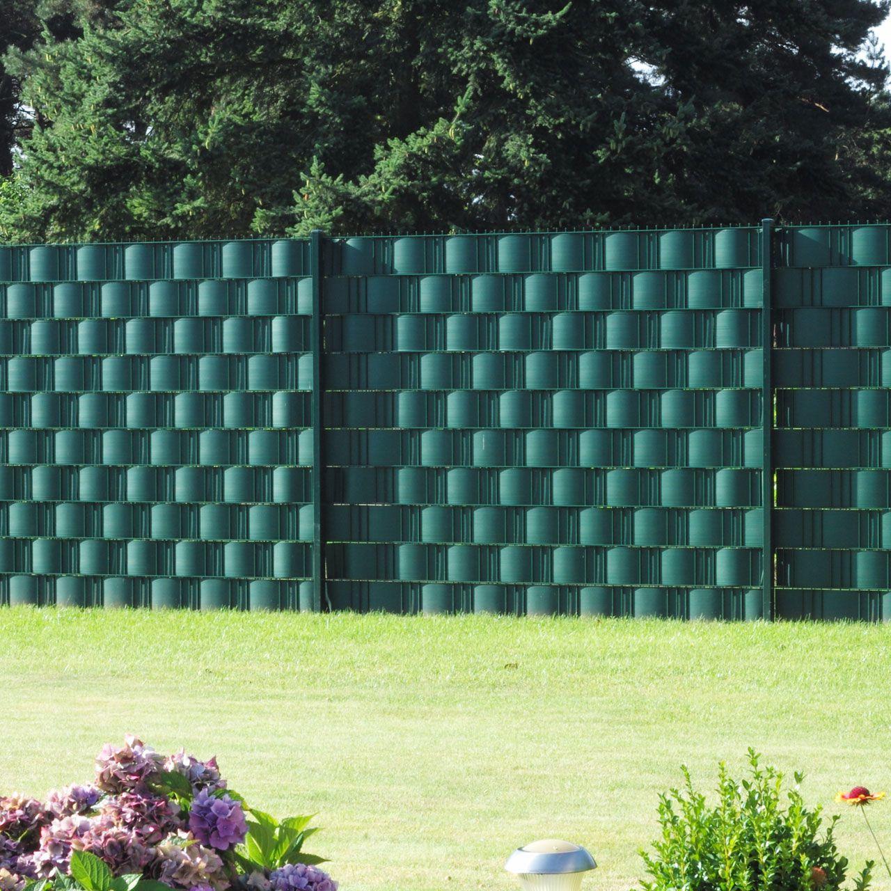 Sichtschutzstreifen Hart PVC Woodline grün