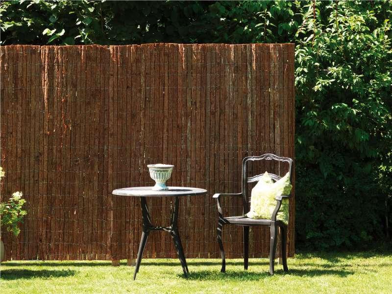 Garten Sichtschutz Aus Weide Bambus Schilf Co