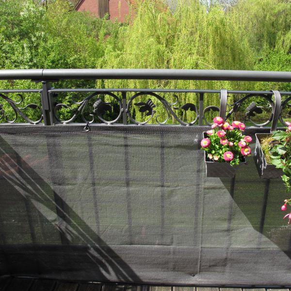 Balkonbespannung PE, Classik anthrazit