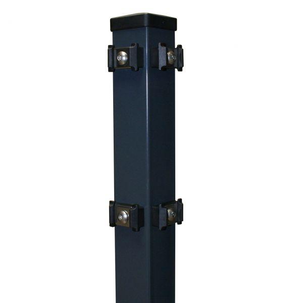 eckpfosten f r doppelstabmatte anthrazit 180cm. Black Bedroom Furniture Sets. Home Design Ideas