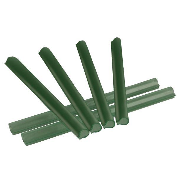 Omega-Klemmschienen für Sichtschutzstreifen, grün