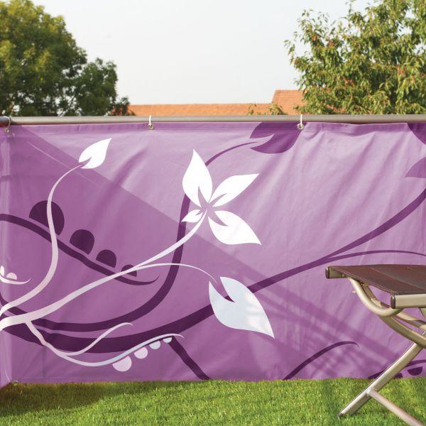 Balkonverkleidung Banner Bella Flora, brombeere