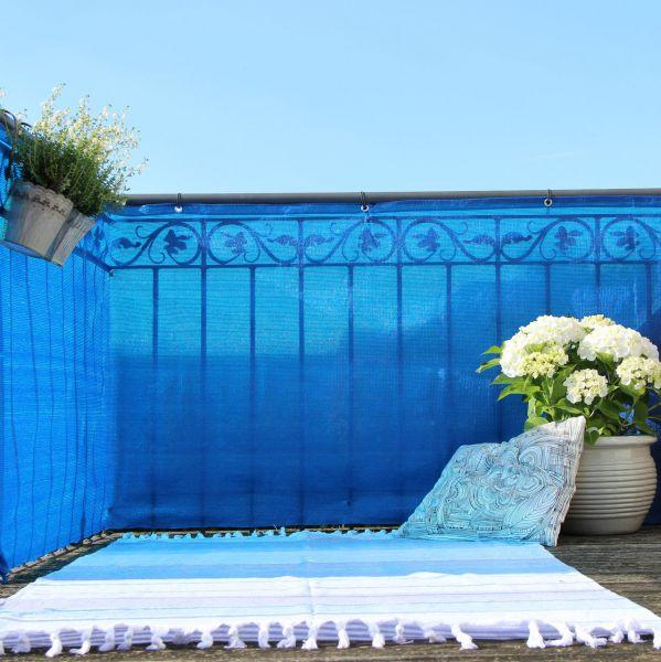 balkonverkleidung blau