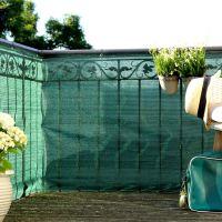 Balkonbespannung PE, Classic grün Höhe x Breite:90 x 300 cm
