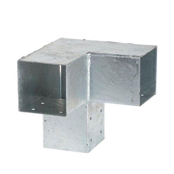 Cubic Doppelter Eckbeschlag 90°, 3 Pfosten