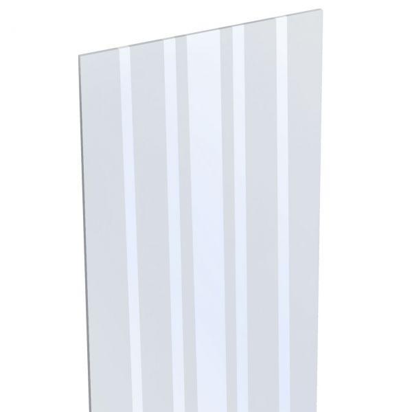 BPC Sichtschutzzaun SOLID Stecksystem, Designeinsatz Glas