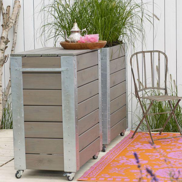 mobile theke aus 2 x blumenkasten cubic inkl stehtisch deckel. Black Bedroom Furniture Sets. Home Design Ideas