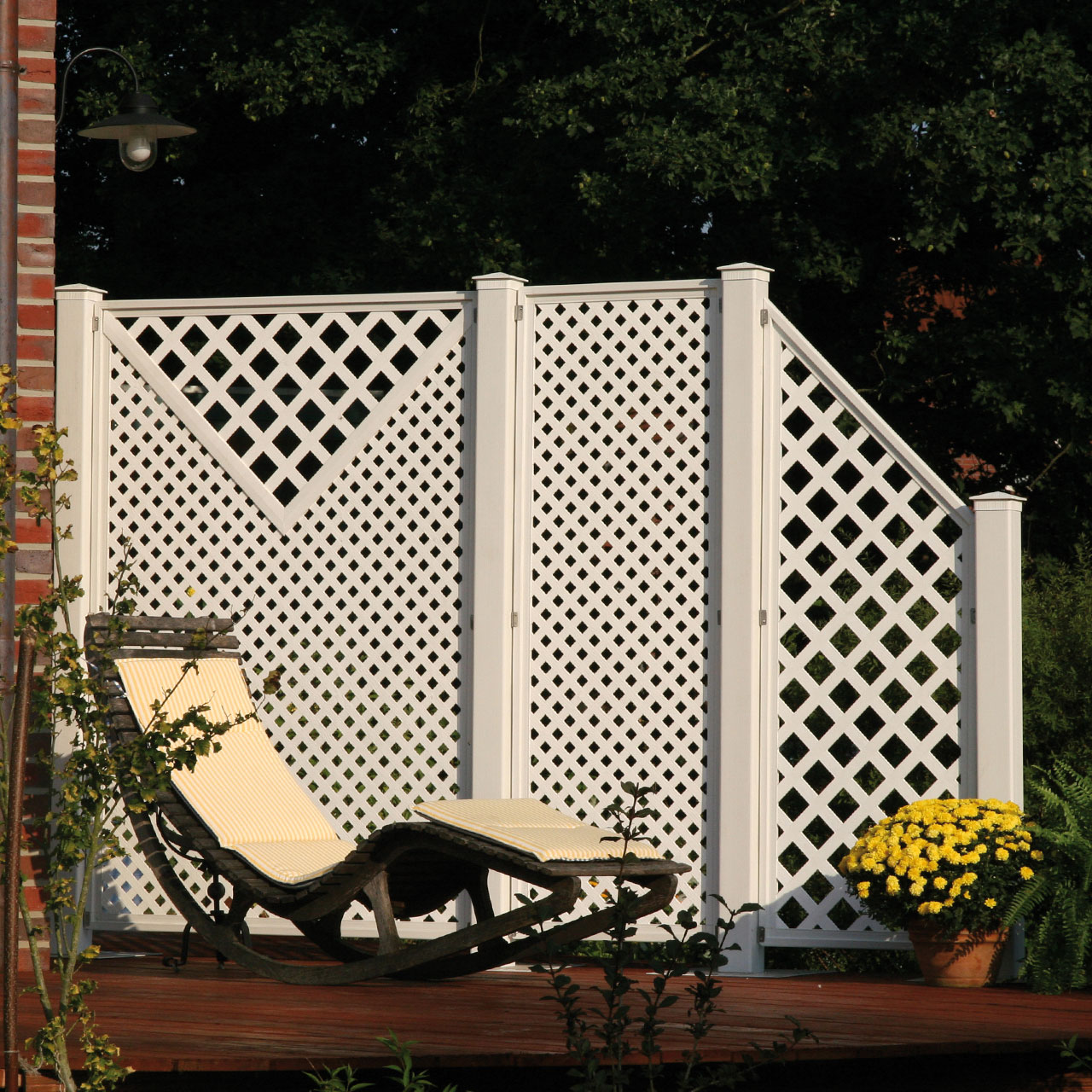 sichtschutzwand kunststoff terrasse coventry set 5. Black Bedroom Furniture Sets. Home Design Ideas