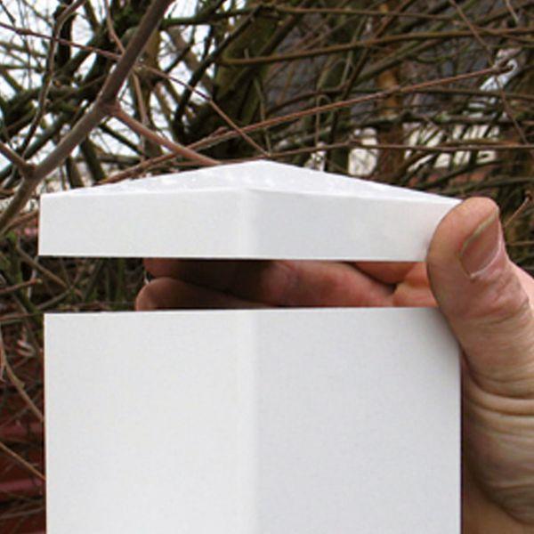Pfostenkappe 8,7 x 8,7 cm, weiß