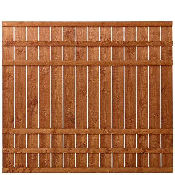 Sichtschutzwand Holz, Rustig teak