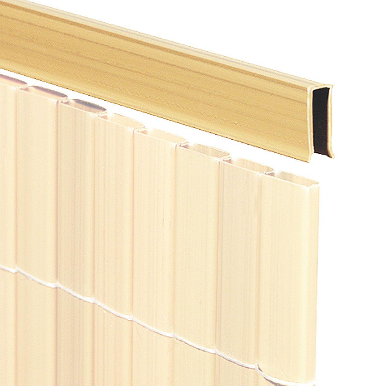 U Profil für Sichtschutzmatte Rügen bambus