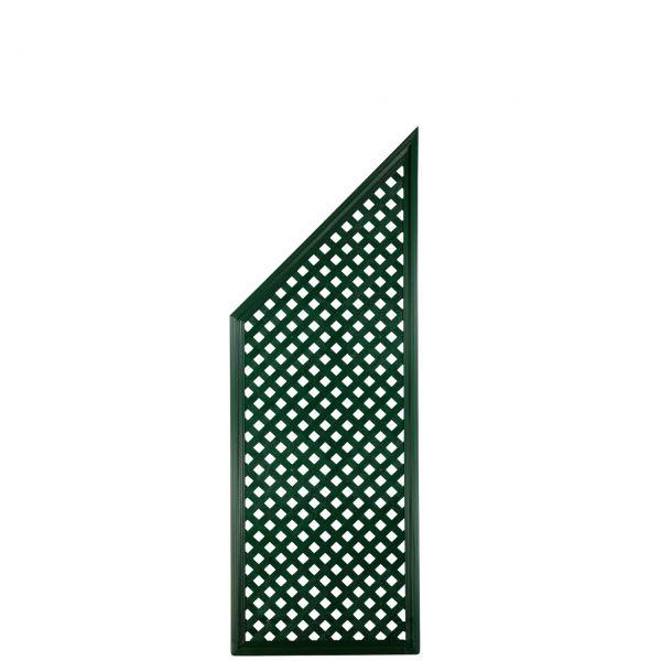 Sichtschutzwand Kunststoff Coventry, Diamant Abschlusselement