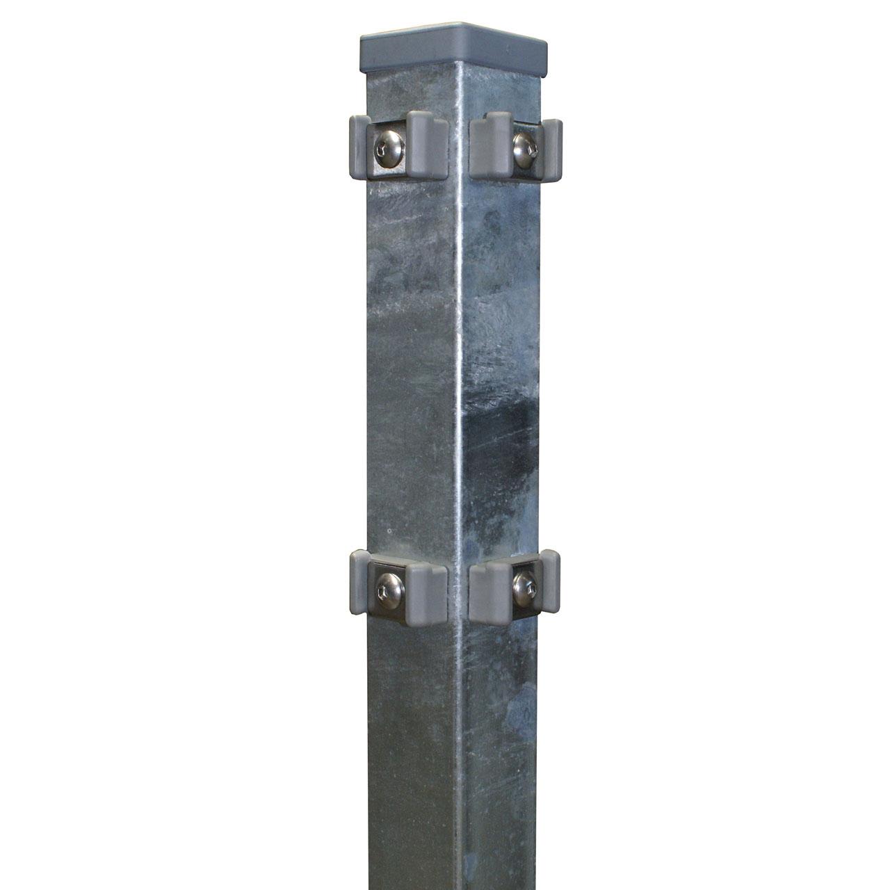 Eckpfosten für Doppelstabmatte 80cm verzinkt