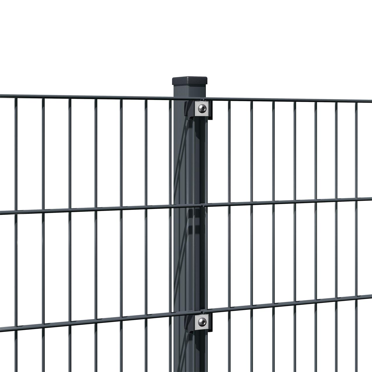 Zaunpfosten für Doppelstabmatte anthrazit 140cm