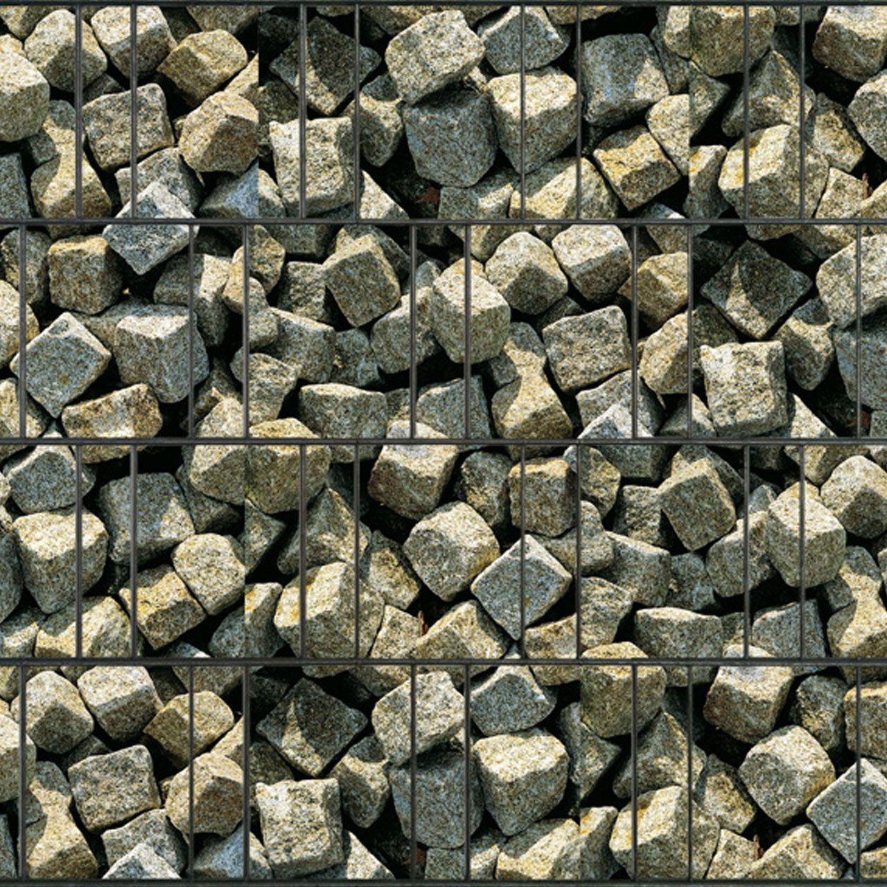 Sichtschutzstreifen bedruckt Motiv Granitwürfel