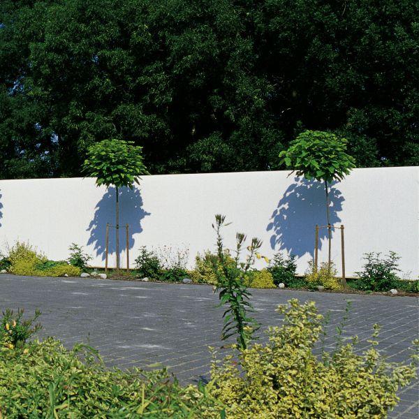 Sichtschutzzaun Kunststoff, Rügen weiß
