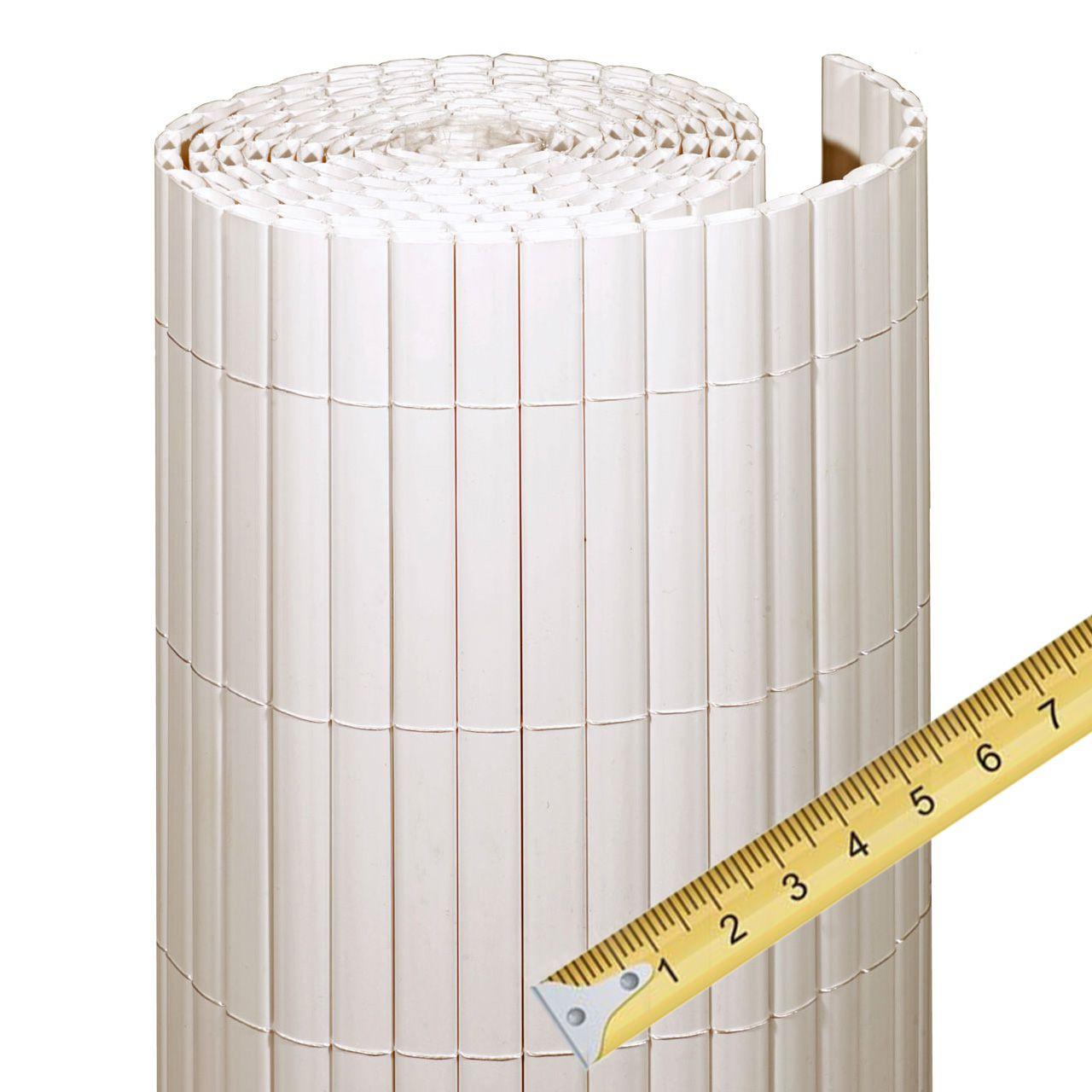 Sichtschutzmatte PVC Kunststoff Meterware Rügen weiß