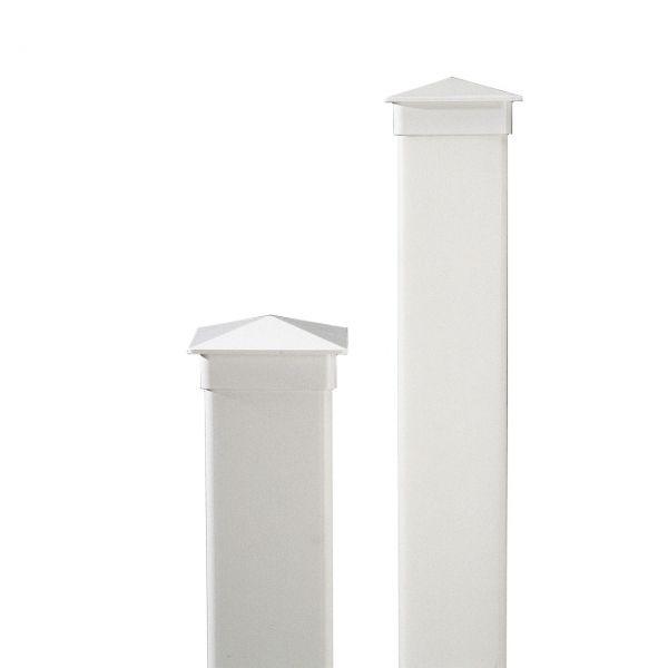 Kunststoff-Pfosten 10x10cm, Oxford weiß