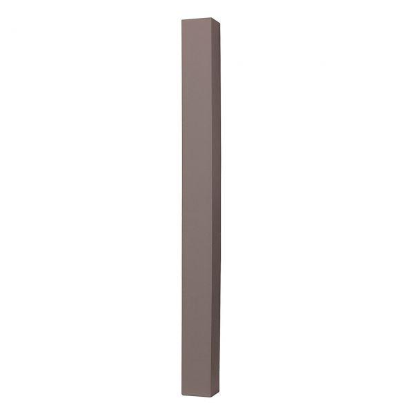 WPC Pfosten 8x8cm Stahlkern, anthrazit
