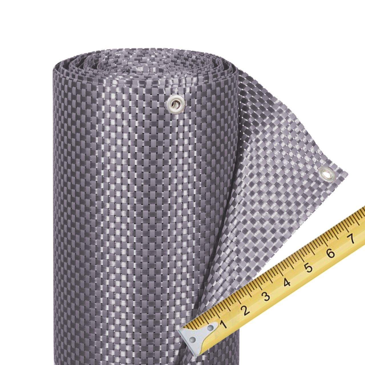 balkonverkleidung kunststoffgeflecht meterware silber anthrazit sichtschutz welt de
