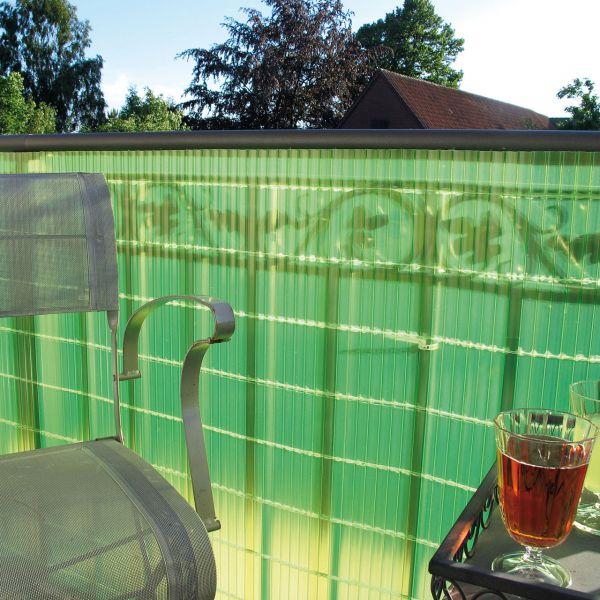 Sichtschutzzaun Kunststoff Montageset, Sunline limonengrün