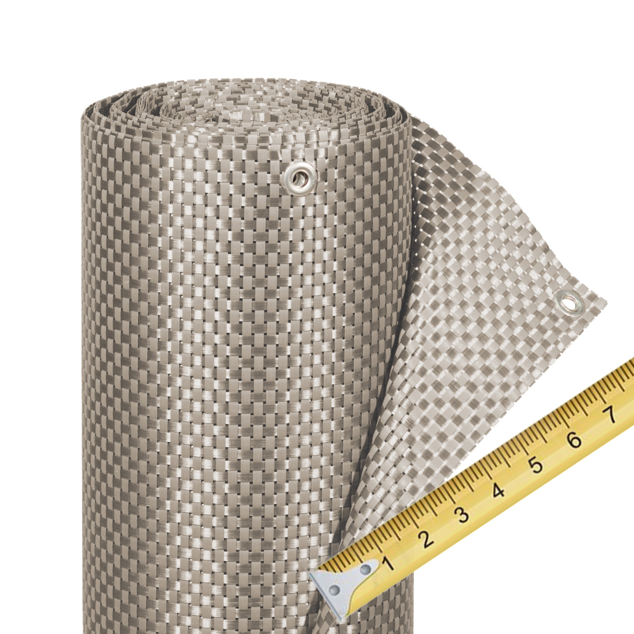 balkonverkleidung kunststoffgeflecht meterware platin sichtschutz. Black Bedroom Furniture Sets. Home Design Ideas