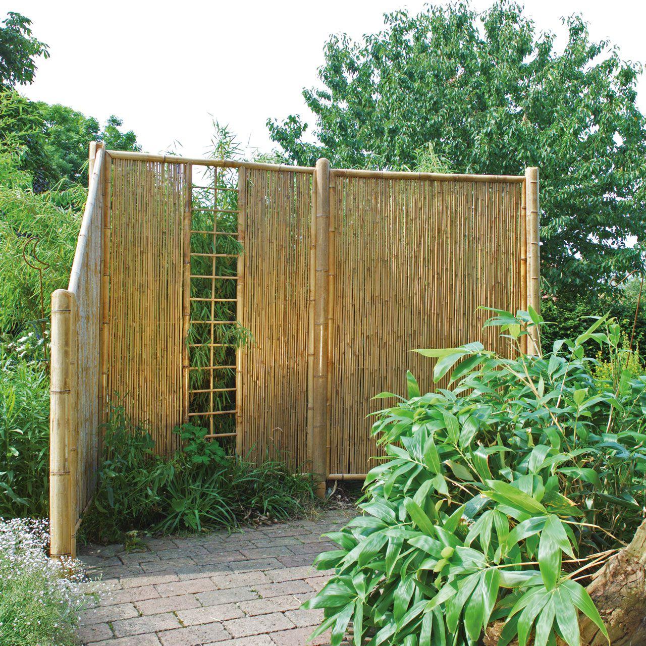 sichtschutzwand bambus, sichtschutzelement zen spalier, Wohnzimmer dekoo