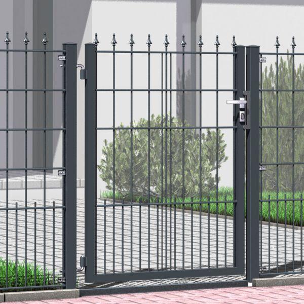 Gartentor Metall Schmuckzaun mit Spitzen 130cm