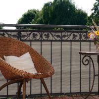 Balkonbespannung PE Classik, bicolor beige/grau Höhe x Breite:90 x 300 cm