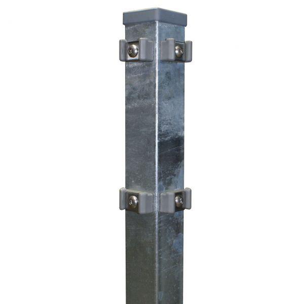 Eckpfosten für Doppelstabmatte 120cm, verzinkt