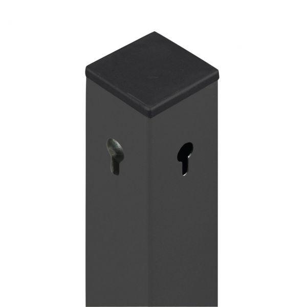 Aluminium-Pfosten 6x6cm, grau