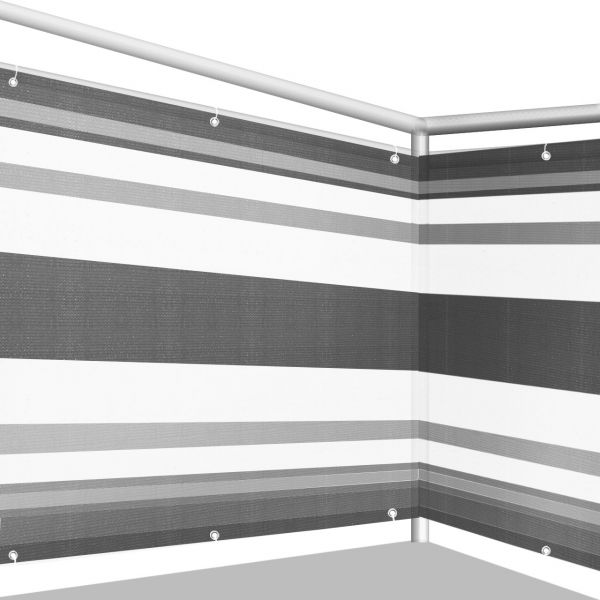 Balkonbespannung PE, Design grau/anthrazit