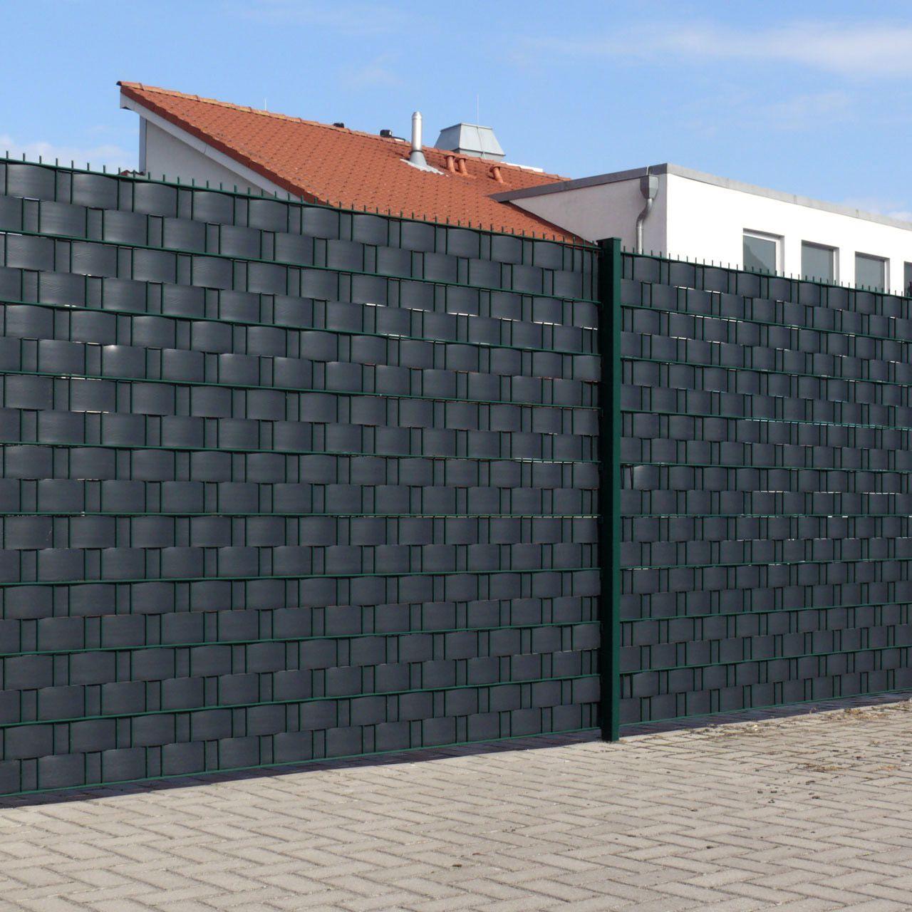 Sichtschutzstreifen Hart PVC Woodline anthrazit