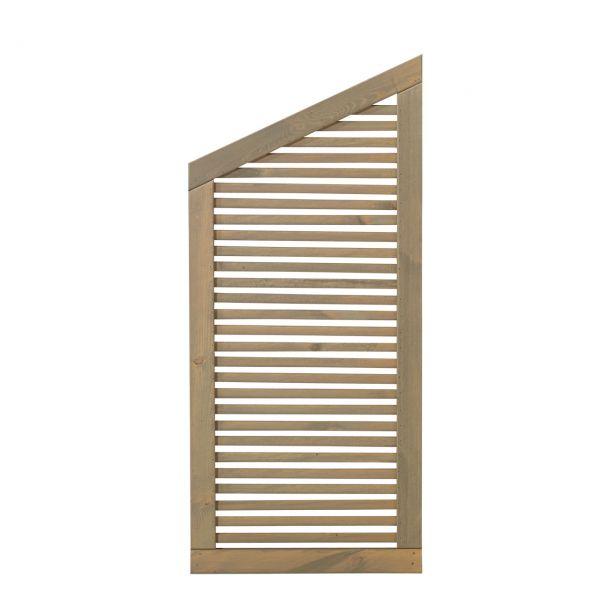 Holzsichtschutzwand, Silence taupe