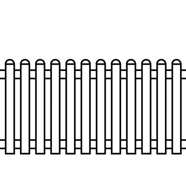 Kunststoffzaun Royal-Line weiß, gerade 90cm