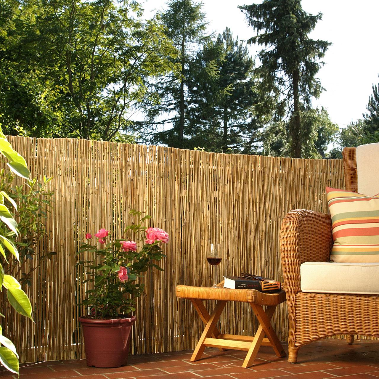 schilfrohrmatte sichtschutzmatte f hr natur sichtschutz. Black Bedroom Furniture Sets. Home Design Ideas