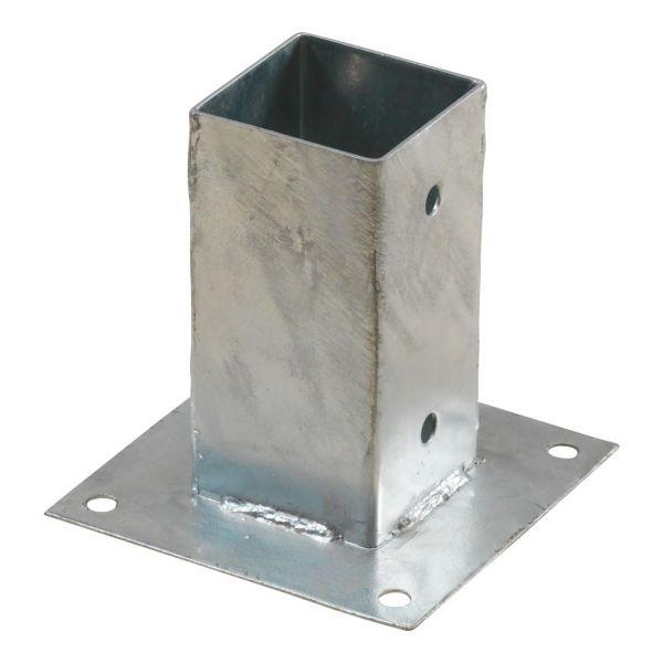 Pfosten-Montagefuß Cubic zum Aufschrauben, 7x7cm