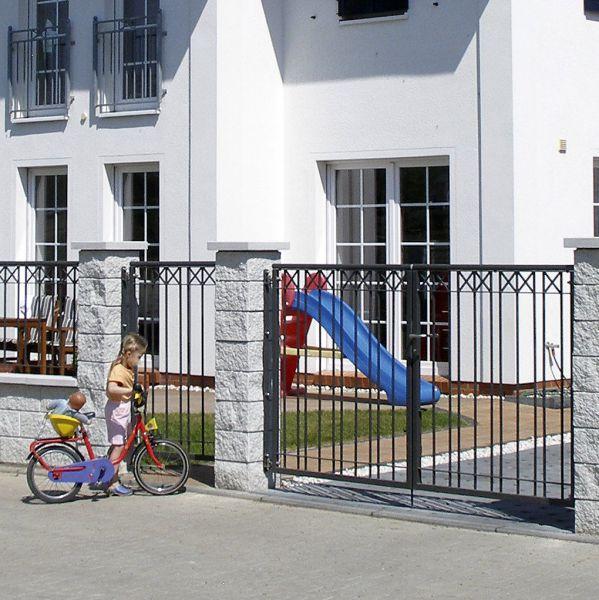 Toranlage 2-flügelig - Metallzaun Parkallee H: 150cm
