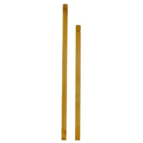 Aufsteck-Pfosten Lärchenholz, 7x7cm, mit innenliegender Metallhülse