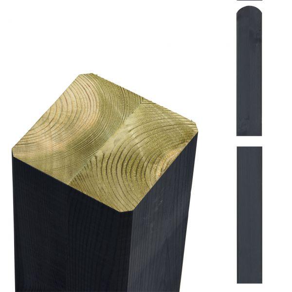 Premium Leimholzpfosten 9x9cm, Rundkopf anthrazit