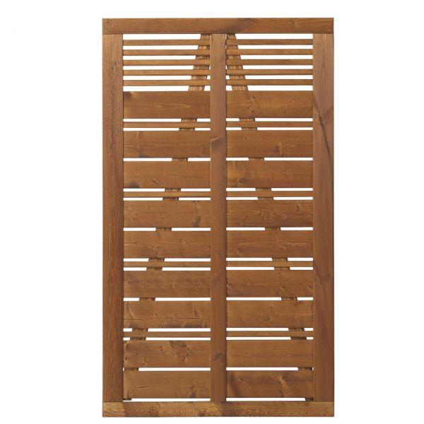 Tür zu Sichtschutz Holz, Silence teak