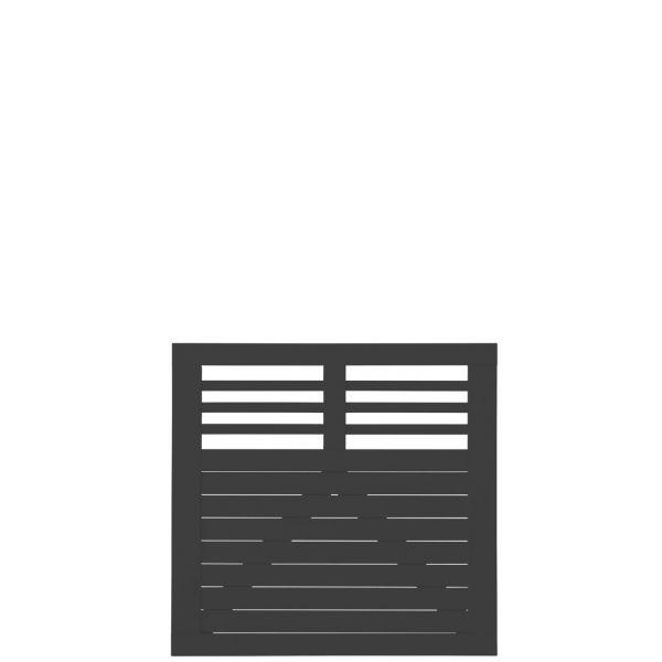 Sichtschutztür Holz Dekora, schwarz