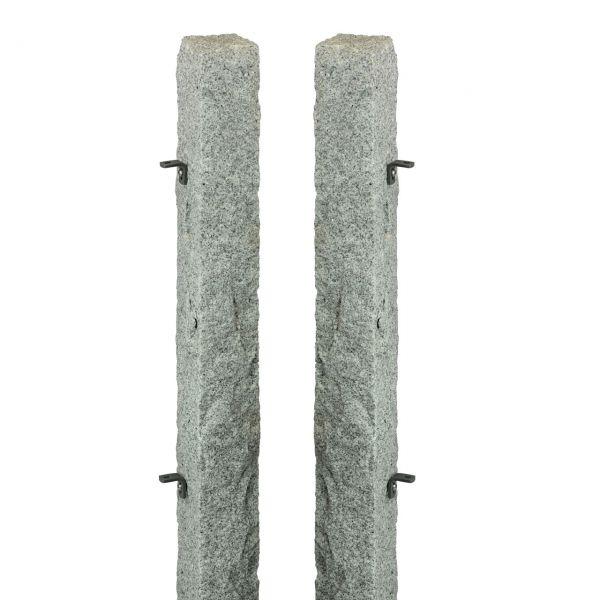 Granitpfosten-Set für Pforte, 20x20 cm, H: 90cm, Anschlag links
