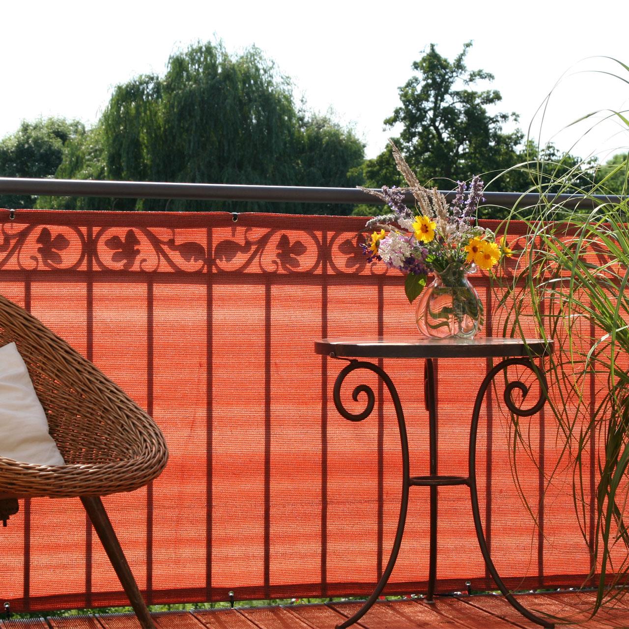 balkonbespannung pe classic terrakotta sichtschutz. Black Bedroom Furniture Sets. Home Design Ideas